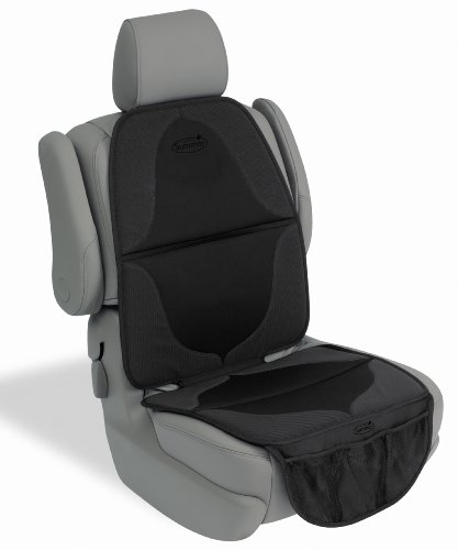 (Summer ELITE DuoMat Car Seat Protector, Black - Premium Waterproof Seat Cover Pad with Storage Pockets )