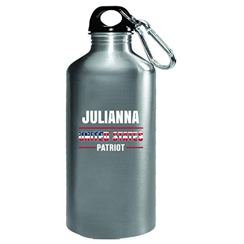 Julianna United States Patriot Independence Day Gift - Water Bottle