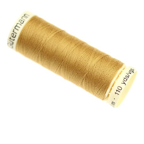 Gutermann 2T100/968 | 968-Dark Gold 100% Polyester Sew All Sewing Thread | 100m