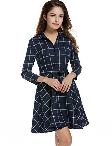 Buy belted button down shirt dress - 4