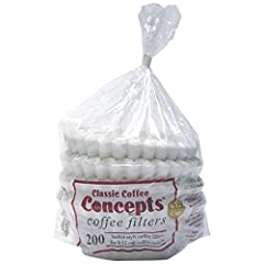 Features. 8-12 Cup Filter.. 200 CT Per Poly bag.. 24 Bags Per Ctn.. Dimension - 17.75 x 11.68 x 13.75 in.. Item Weight - 9.6 lbs.