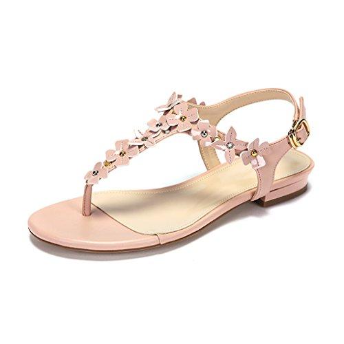 piatte jianxin bianco femmina e ornamento rosa dei grazioso estate sandali sandali floreale Casual nbsp; confortevole e JIANXINliangxie 35 qXxdw0nd