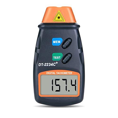 Fitnate Digitale laserfotosnelheidsmeter, niet contact met de snelheidsmeter, 2,5-99,999 tpm, batterijen, 3 stuks…