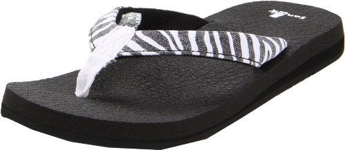 Sanuk Womens Yoga Wildlife Flip Flop