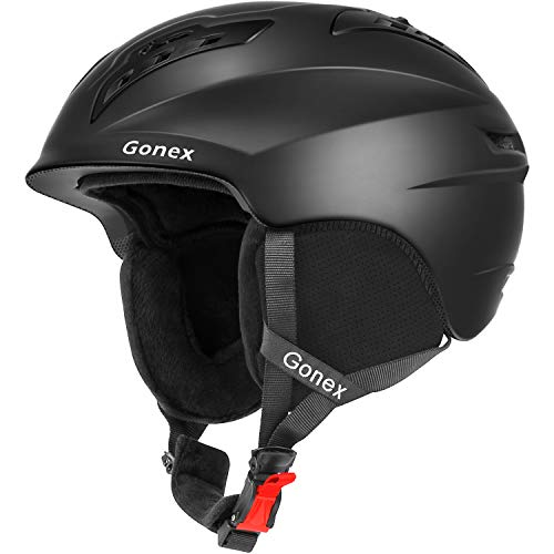 Gonex Ski Helmet Winter Snow Snowboard Skate Helmet with Safety Certification for Men, Women & Young Size L Adjustable 58-61cm Matte Black