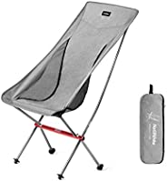 Naturehike Ultralight Folding Camping Chair High Back Lightweight Portable Compact Heavy Duty 300lbs for Adult