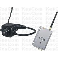 KesCom 203N telecamera di sorveglianza di sicurezza mini colore, 1A 4canali (non regolabile) con ricevitore a 4canali, 2.4GHz