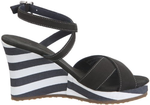 Mistral Lady Flirtini 23033 Damen Sandalen/Fashion-Sandalen Schwarz/Black