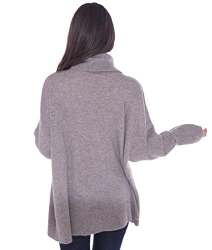 cashmere 4 U 100% Cashmere Turtleneck Oversize Sweater Pullover For Women by cashmere 4 U (Image #3)