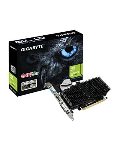 Gigabyte GV-N710SL-2GL GeForce GT 710 2GB GDDR3 - Tarjeta gráfica (NVIDIA, GeForce GT 710, 4096 x 2160 Pixeles, 2048 x 1536 Pixeles, GDDR3, PCI ...