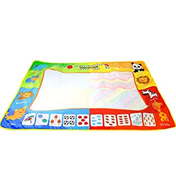 Buy Toogoo Water Doodle Mat Water Drawing Painting Mat Large Size 120 X 90cm Mess Free Aqua Magic Mat For Kids Boys Girls Online At Low Prices In India Amazon In
