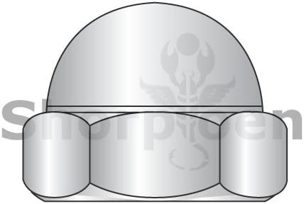 10-24 Low Crown Hex Cap Nut 18 8 Stainless Steel Box Quantity 500 by Shorpioen BC-10NC188 1 Piece