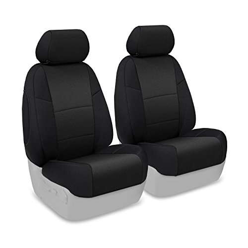 Coverking Custom Fit Front 50/50 Bucket Seat Cover for Select Subaru Legacy/Outback Models - Neoprene (Black) - Black Seat Covers Subaru Legacy