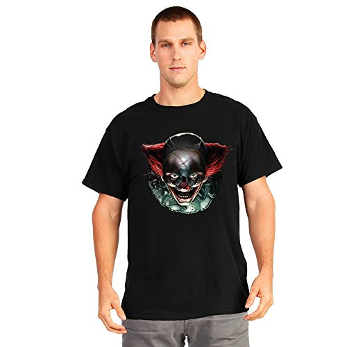 Morphsuits Digital Dudz Freaky Clown Eyes Shirt, Black/Multi Print, (Freaky Halloween Costumes For Men)