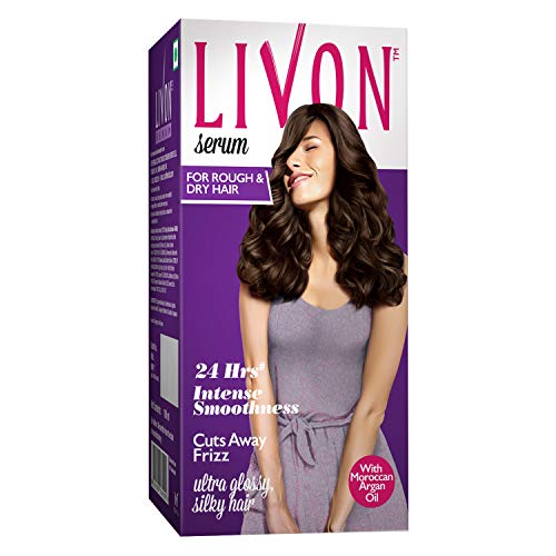 Livon Serum for Women for Dry & Rough Hair For 24 Hour Frizz-free Smoothness,With Argan Oil & Vitamin E, 100 ml