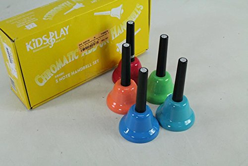 Rhythm Band Kids Play Chromatic 5 Note Add - On Handbells Set