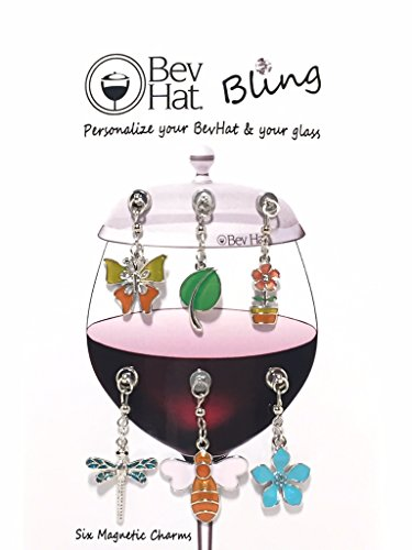 - BevHat Bling Spring Collection Magnetic Charms. Personalize Your BevHat or Your Glass. Set of 6 Identifiers.