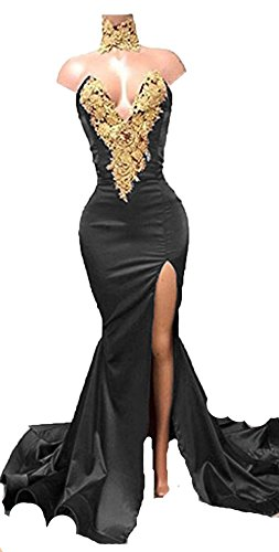 Black Dresses Appplique Sleeves Gold BD389 Style Long Gown 4 Ball Lace Prom Quinceanera BessDress PFxBa6qnP