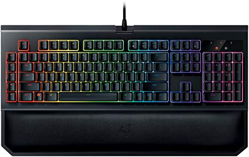 (Razer BlackWidow Chroma V2: Esports Gaming Keyboard - Ergonomic Wrist Rest - 5 Dedicated Macro Keys - Razer Green Mechanical Switches (Tactile and Clicky))