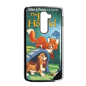 Personalized Durable Cases LG G2 Phone Case Black Fvxgg The Fox and the Hound Protection Cover