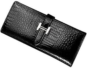 Crocodile Pattern GGZBG-0297 Wristlet Purse for Women - Black