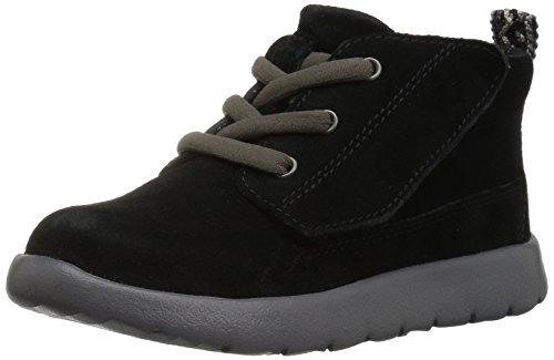 UGG Boys' T Canoe Suede Sneaker Black 12 M US Little Kid ()