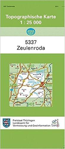 Zeulenroda 5337 Topographische Karten 1 25000 Tk 25 Thuringen