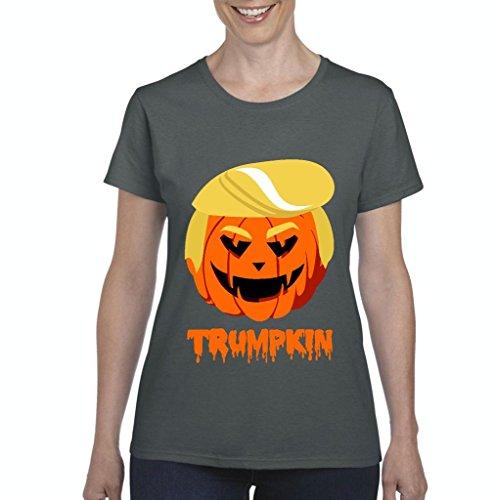 Xekia Trumpkin Donald Trump Halloween Costume Fashion People Best Friend Gifts Women's T-shirt Tee Clothes XXX-Large Charcoal -