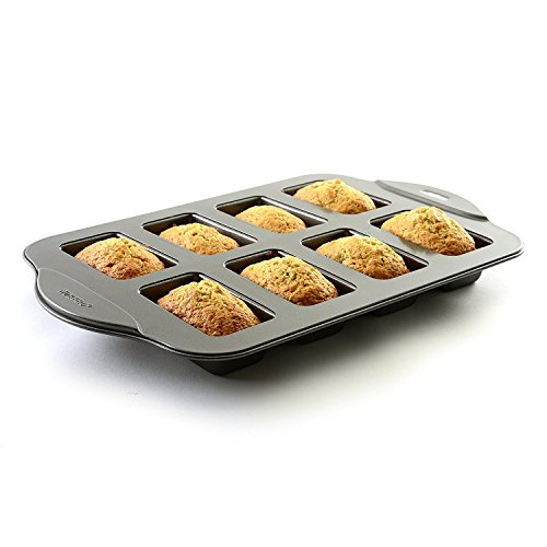 Kitchen Black 8 Mini Non Stick Meat Loaf Bread Bake Oven Pan with Scraper Combo by FNG Homestead