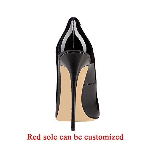 ed93d918e2511 Modemoven Women's Black Sexy Point Toe High Heels,Patent - Import It All