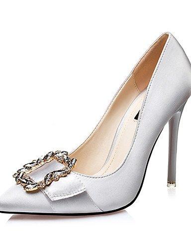 GGX/Damen Schuhe Seide Fall Heels/spitz Zehen/Clogs & Pantoletten Kleid Stiletto Ferse Schnalle Schwarz/Rot/Grau/Gold golden-us7.5 / eu38 / uk5.5 / cn38