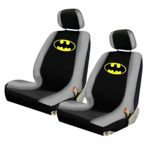 Licensed Universal Fit - Two Officially Licensed Universal Fit Lowback Front Bucket Seat Covers - Batman