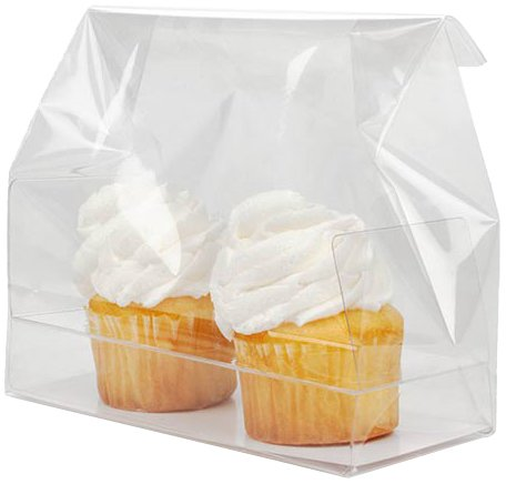 (ClearBags Clear Holiday Mini Cupcake Bags | Favor Bags for Christmas Treats Mini Cupcakes Muffins | Great for Holiday Parties Weddings Bakery | Holds 2 Mini Cupcakes | Food Safe)