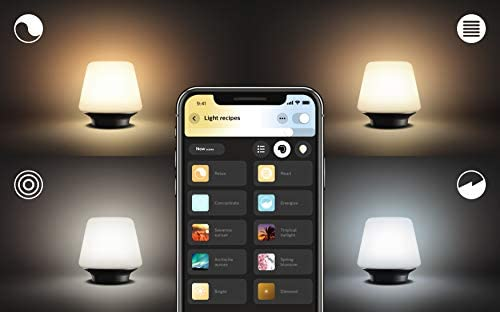 Philips Hue White Ambiance Wellness Dimmable Led Smart Table Lamp Works With Alexa Apple Homekit And Google Assistant Amazon Com