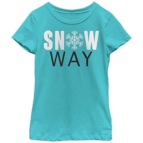 Lost Gods Girls' Christmas Snow Way Tahiti Blue T-Shirt by Lost Gods