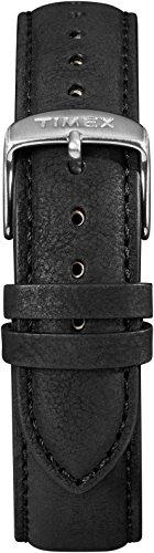 Timex Men's TW7C08400 IQ+ Move 20mm Black Leather Strap (Timex Strap 20mm)