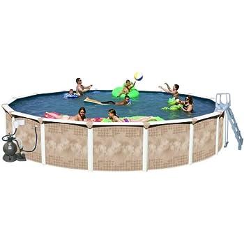 Splash Pools Round Deluxe Pool Package, 24-Feet by 52-Inch