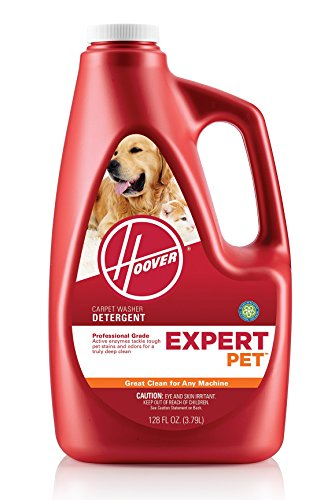 (Hoover Expert Pet Carpet Cleaner Solution Formula, 128 oz, AH15075, Red)