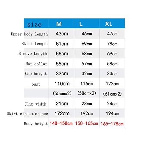 HY Vestido sin Mangas Impermeable para Adultos, Ligero, Ligero Actividades (Color al Aire Libre (Color Actividades : Azul, Tamaño : L) 541772