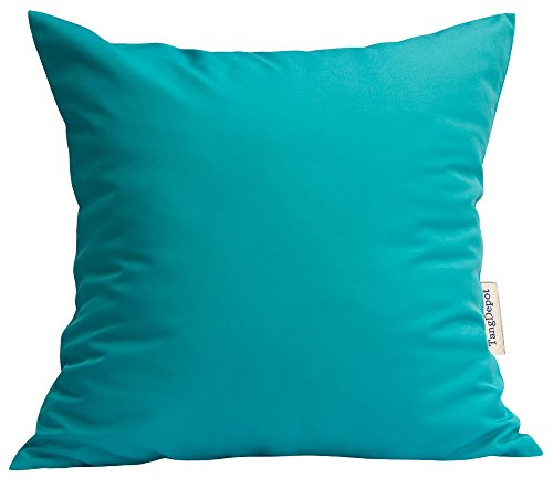 TangDepot Durable Faux Silk Solid Pillow Shams, Square Decorative Pillow Covers, Throw Pillow Covers, Indoor/Outdoor Cushion Covers Pillows Shells - (12