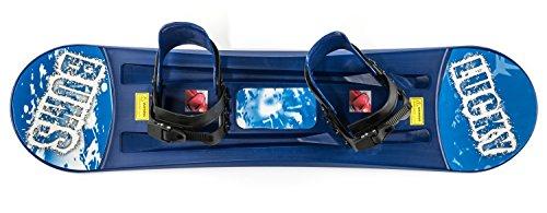 Lucky Bums Kids Plastic Snowboard,Blue, 95 cm