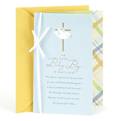 DaySpring Baptism Card for Baby Boys (Dove Cross)