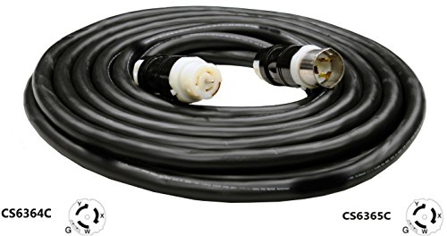 CS6365C to CS6364C Extension Cable - 50A,125/250V, 6/4 SOOW Heavy Duty Industrial Cable (10 Ft.) by Cords & Components (Image #1)