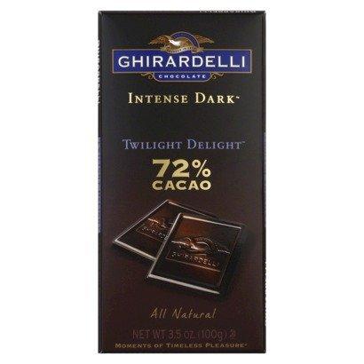 GHIRARDELLI CHOCOLATE BAR INTENSE DARK TWILIGHT DELIGHT 72% CACAO 3.5 OZ EACH (1)