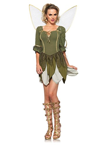 Leg Avenue Women's 2 Piece Rebel Tink Fairy Costume, Medium