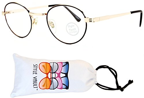 E3048-vp Style Vault Panto Metal Eyeglasses (B2861F Brown/Gold-Clear, - 1950s Style Eyeglasses