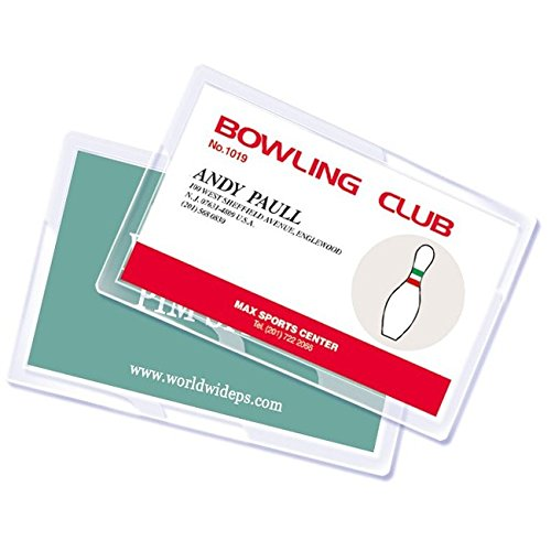 Royal Sovereign Heat Sealed Laminating Pouches 5 Mil Credit Card Size Clear Gloss (100 Pack) (RF05CRDT0100)