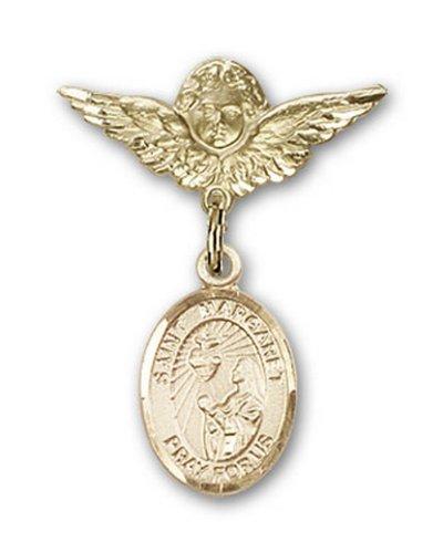 Icecarats Or Bijoux De Créateurs Rempli R. Marguerite Marie Alacoque Charme Ange Broche De Badge 1 X 3/4