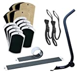 EZ Moves Furniture Mover Kit with Furniture Lifter, Set of 8 Carpet Slides, Set of 2 4' Carpet Slides, Set of 8 Hard Surface Slides, and Set of 2 Pull Straps