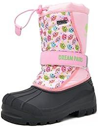 Little Kid Kamick Pink Owl Mid Calf Waterproof Winter Snow Boots Size 12 M US Little Kid